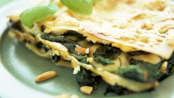 Rezept: Lasagne mit Spinat