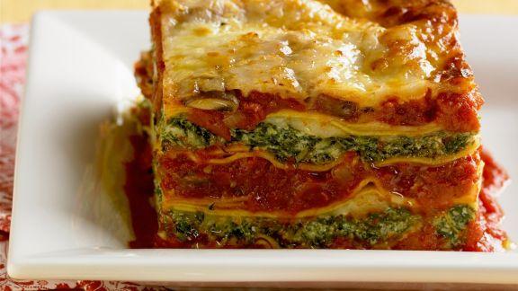 Rezept: Lasagne mit Spinat und Tomaten