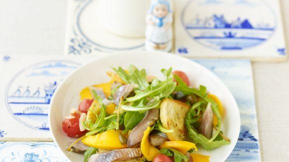 Rezept: Matjes-Brot-Salat
