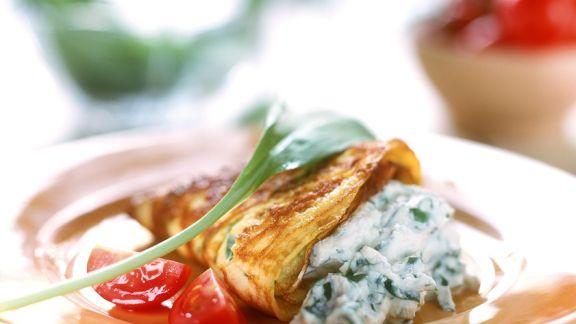 Rezept: Omelett mit Quarkfüllung