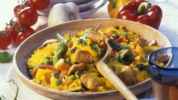Rezept: Paella mit Hähnchen