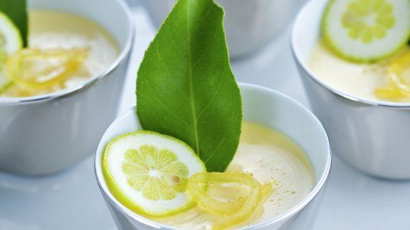 Rezept: Milchcreme mit Limette