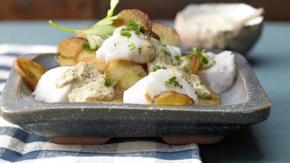 Rezept: Pannfisch mit Senfsauce