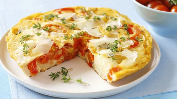 Rezept: Paprika-Kartoffel-Omelett auf spanische Art