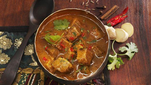 Rezept: Indisches Rindfleischragout mit Ingwer