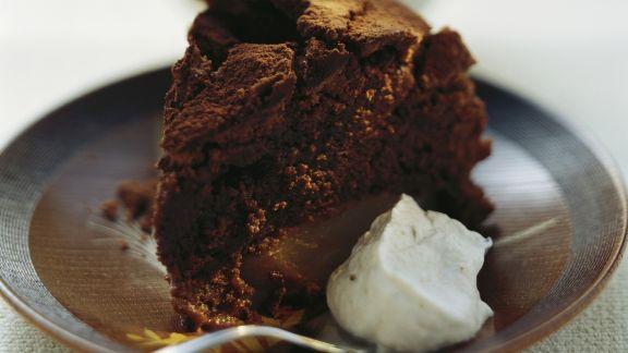 Rezept: Schokoladenkuchen mit Birne
