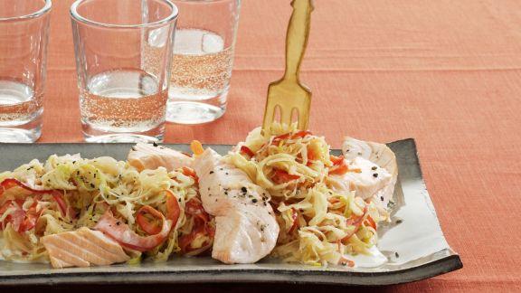 Rezept: Sauerkrauteintopf mit Porree und Meerrettich