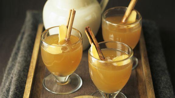 Rezept: Heißer Apfel-Ingwer-Drink