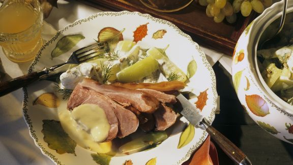 Rezept: Schweineschulter mit Senfsoße