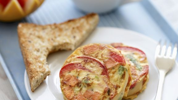 Rezept: Frittata mit Süßkartoffel und Spinat