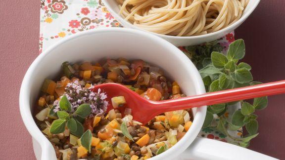 Rezept: Nudeln mit Gemüse-Bolognese