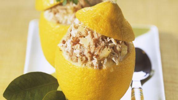 Rezept: Zitronen und Thunfischcreme gefüllt