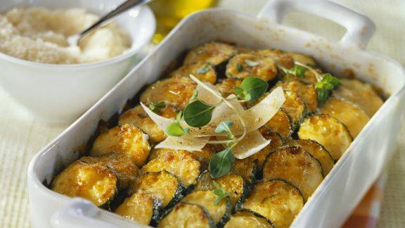 Rezept: Zucchiniauflauf mit Parmesan