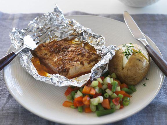 Alufolien-Fisch mit Cajun-Gewürz