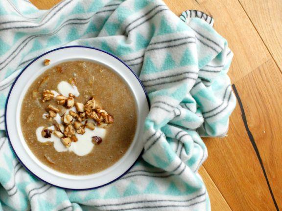 Amaranth Porridge mit gerösteten Birnen