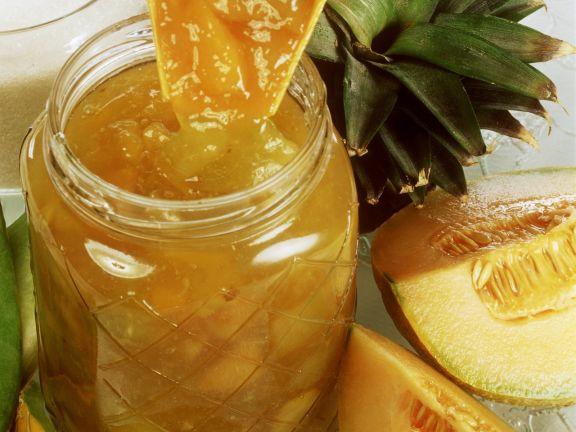 Ananas-Honigmelonenkonfitüre