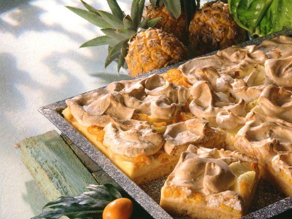 Ananas-Kumquat-Kuchen mit Baiser