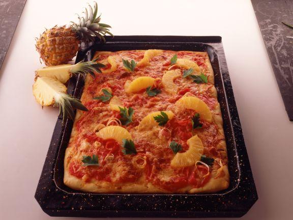 Ananas-Schinken-Pizza