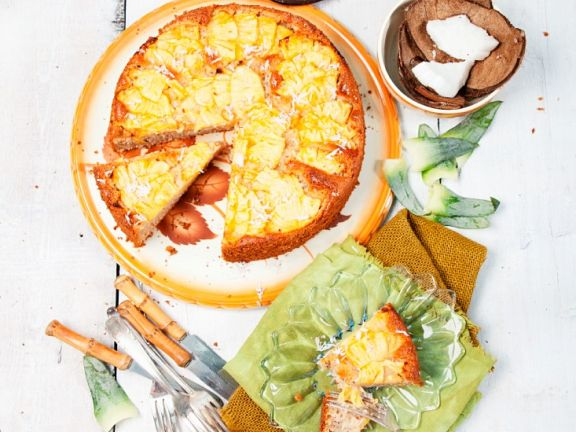 Ananaskuchen mit Kokos