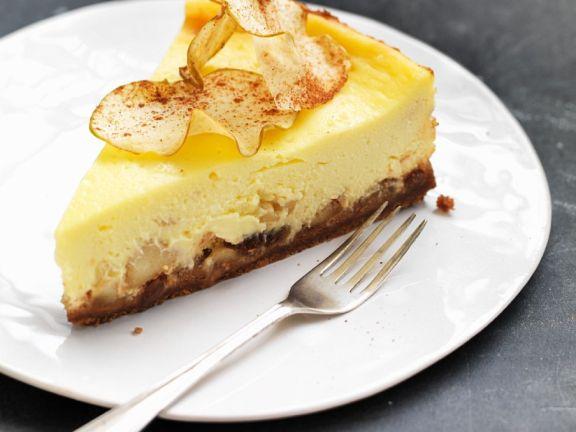 Apfel Kasekuchen Mit Keksboden Rezept Eat Smarter