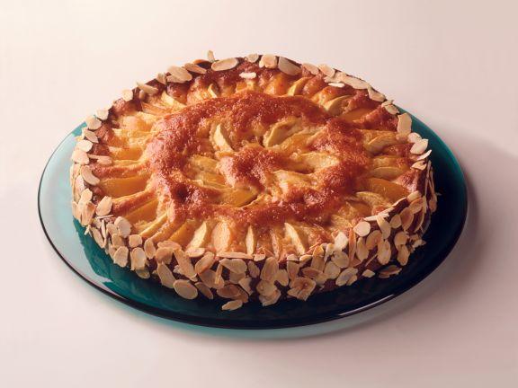 Apfel-Marzipankuchen mit Pfirsichen