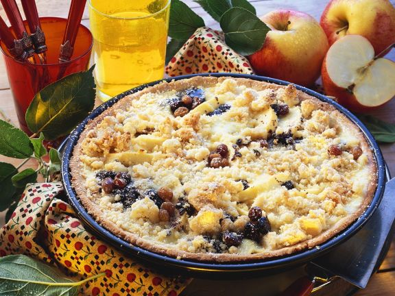 Apfel-Mohn-Kuchen mit Streuseln