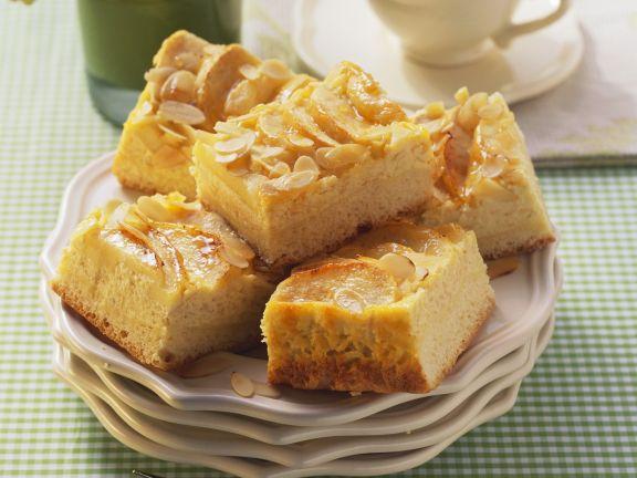 Apfel-Quark-Kuchen mit Mandeln