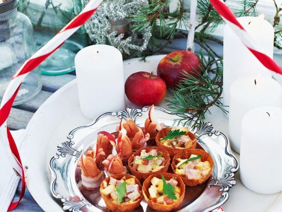Apfel-Schinken-Tarteletts