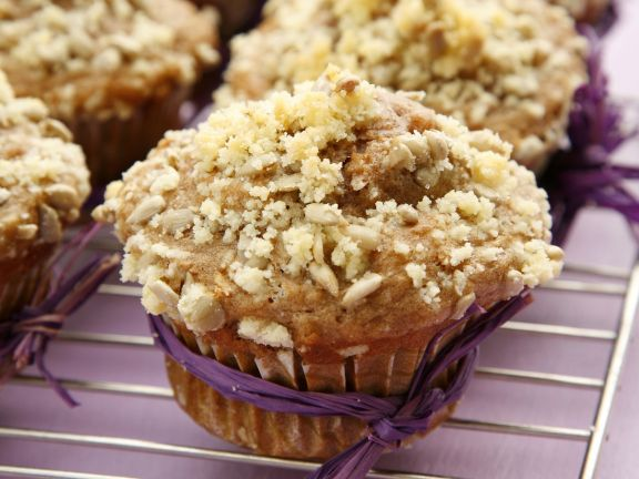 Apfel-Sonnenblumen-Muffins