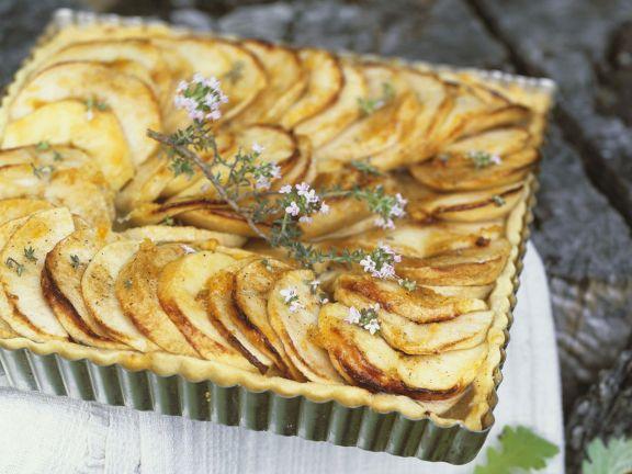 Apfel-Thymian-Tarte