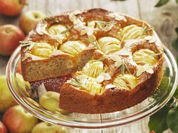 Apfelkuchen mit Rosmarin