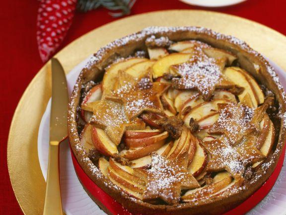 Apfelkuchen zu Weihnachten