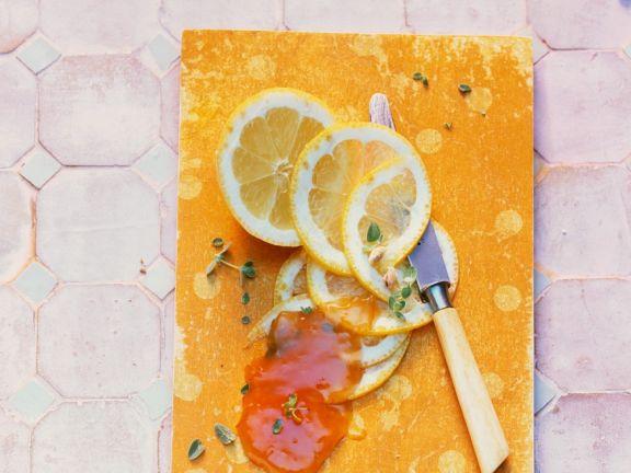 Apfelmarmelade mit Zitrone und Thymian