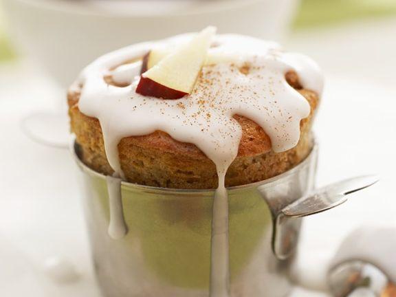 Apfelmuffins mit Zuckerguss
