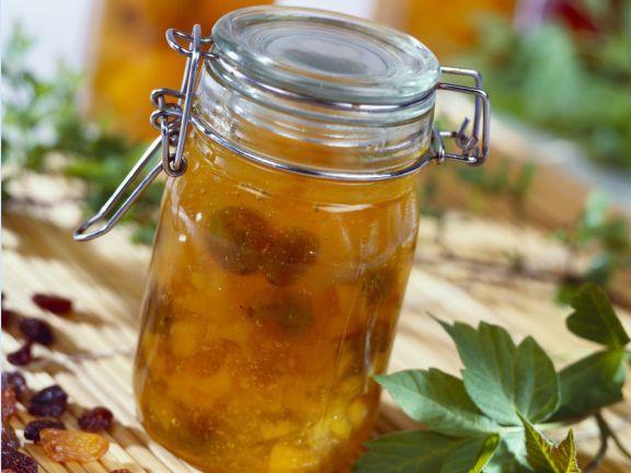 Aprikosen-Rosinen-Marmelade