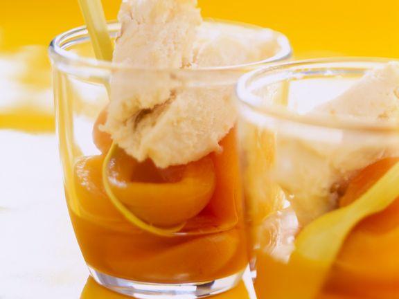 Aprikosen und Mirabellensorbet