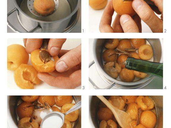 Aprikosenkompott zubereiten