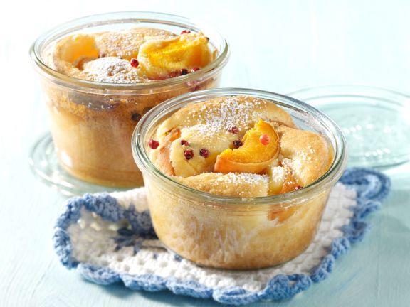 Aprikosenkuchen im Glas gebacken