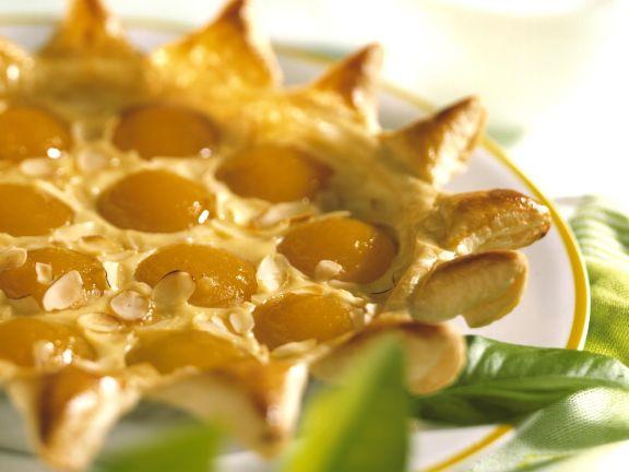 Aprikosentarte mit Mandeln