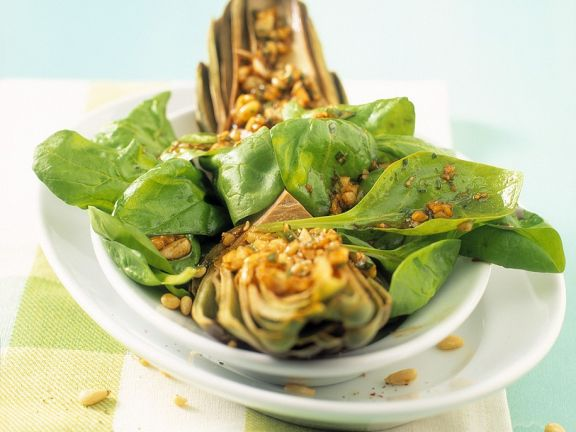 Artischocken-Spinatsalat