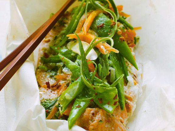 Asia-Fisch mit Gemüse