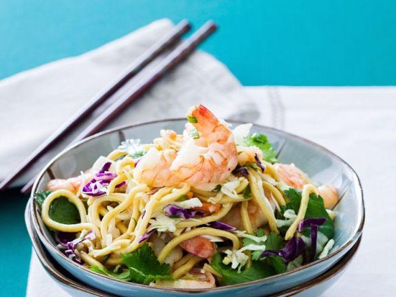 Asia-Nudelsalat mit Shrimps