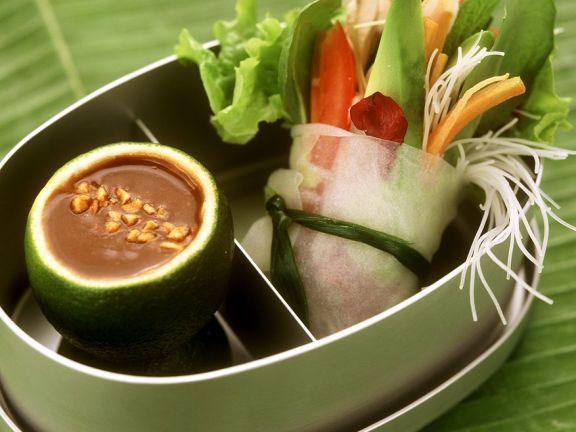 Asiatische Gemüserollen