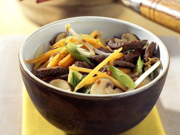 Asiatische Rindfleischpfanne