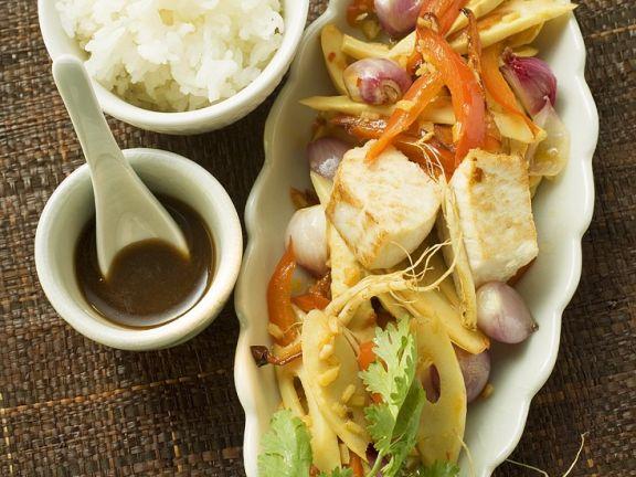 Asiatischer Fisch-Wok
