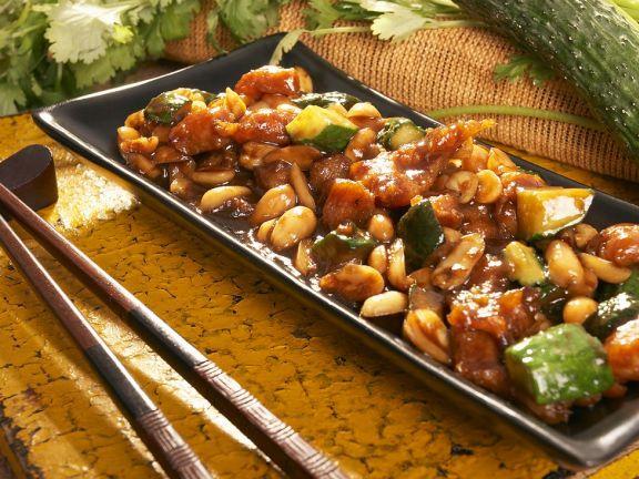 Asiatisches Hähnchen mit Gemüse