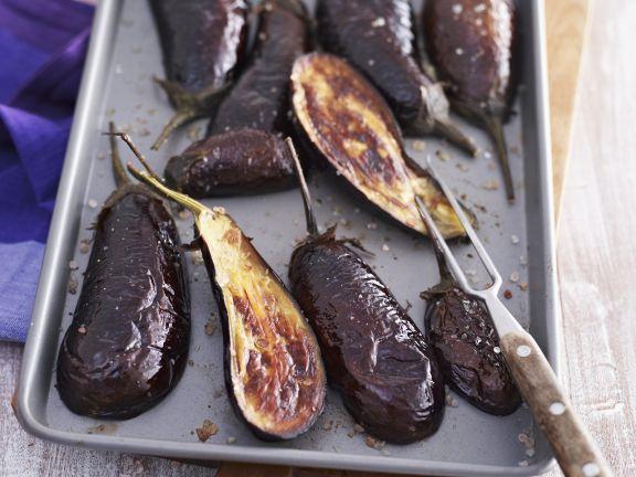 aubergine backen backofen