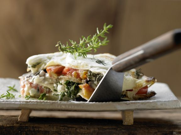 Auberginen-Lasagne