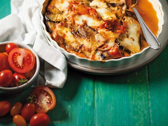 Auberginen-Tomaten-Auflauf mit Mozzarrella