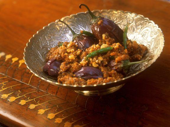 Auberginengemüse mit Erdnuss